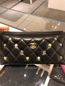 Chanel Black 18K Charms Long Wallet
