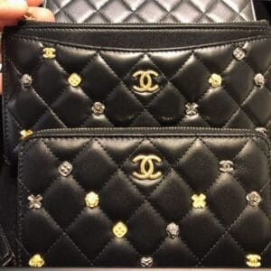 Chanel Black 18K Charms Small Leather Goods 2