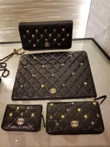 Chanel Black 18K Charms Small Leather Goods