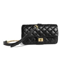 Chanel Black 2.55 Reissue Waist Bag