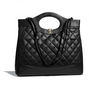 Chanel Black Lambskin Chanel 31 Medium Shopping Bag