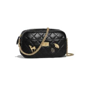 Chanel Black Lucky Charm Reissue Camera Case Bag