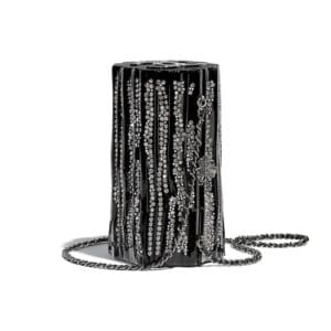 Chanel Black Resin:Strass Log Evening Bag