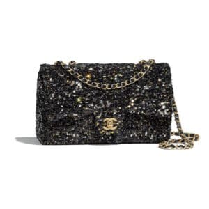 Chanel Black Sequined Flap Bag