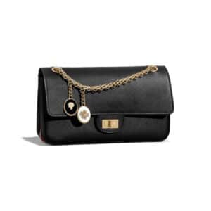 Chanel Black Smooth Nude 2.55 Reissue Size 225 Bag