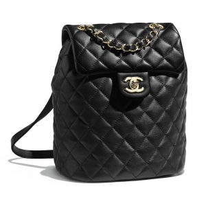Chanel Black Urban Spirit Mini Backpack Bag