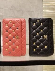 Chanel Black and Rose Pink 18K Charms Wallet on Chain Bag