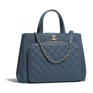 Chanel Blue Business Affinity Medium Shopping Bag