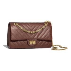 Chanel Bronze Chevron 2.55 Reissue Size 225 Bag