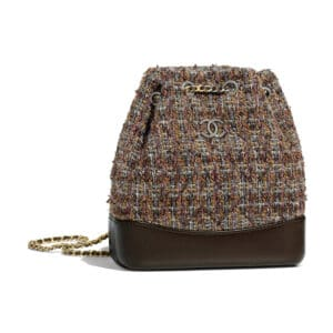 Chanel Brown Tweed Gabrielle Small Backpack Bag