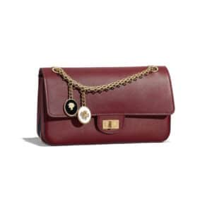 Chanel Burgundy Smooth Nude 2.55 Reissue Size 225 Bag