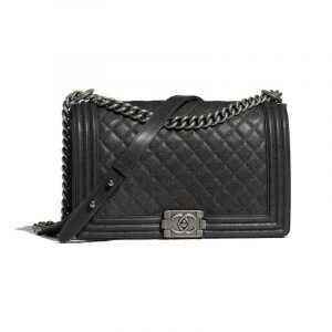 Chanel Charcoal Boy Chanel New Medium Flap Bag