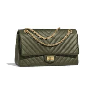 Chanel Green Chevron 2.55 Reissue Size 226 Bag
