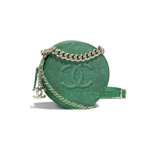 Chanel Green Lizard Round As Earth Evening Bag