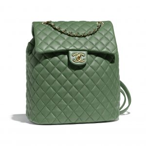 Chanel Green Urban Spirit Large Backpack Bag