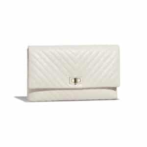 Chanel Ivory Chevron 2.55 Reissue Clutch Bag