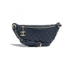 Chanel Navy Blue Quilted Waist Bag