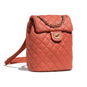 Chanel Orange Urban Spirit Mini Backpack Bag