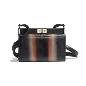 Chanel Orange:Black Lizard Reissue Clutch Bag