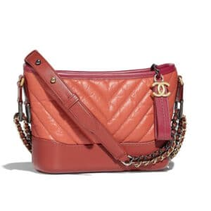 Chanel Orange:Dark Red:Red Gabrielle Small Hobo Bag