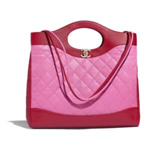 Chanel Pink:Red Lambskin Chanel 31 Medium Shopping Bag