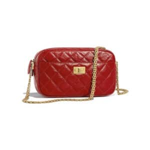 Chanel Red 2.55 Reissue Camera Case Bag