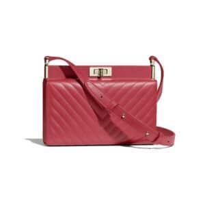 Chanel Red Chevron Reissue Clutch Bag