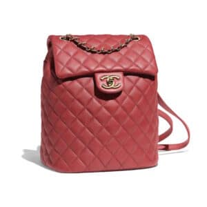 Chanel Red Urban Spirit Small Backpack Bag
