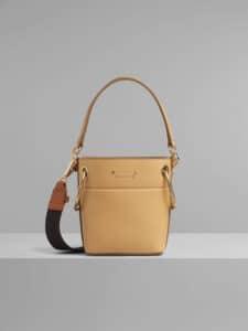 Chloe Bleached Brown Mini Roy Bucket Bag