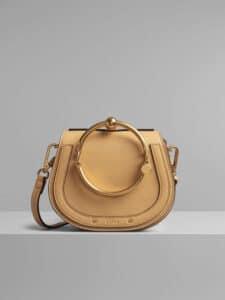 Chloe Bleached Brown Small Nile Bracelet Bag
