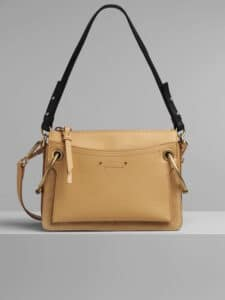Chloe Bleached Brown Suede Calfskin Small Roy Bag