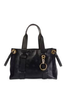 Chloe Blue Baroque C Embroidered Tao Tote Bag
