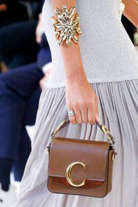 Chloe Brown Mini Flap Bag - Spring 2019