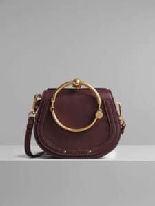 Chloe Burnt Brown Small Nile Bracelet Bag