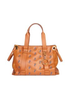 Chloe Caramel Horse Embroidered Tao Tote Bag