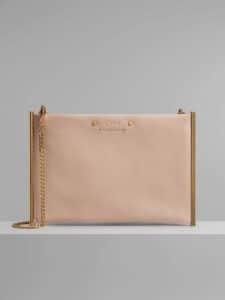 Chloe Cement Pink Roy Mini Clutch Bag