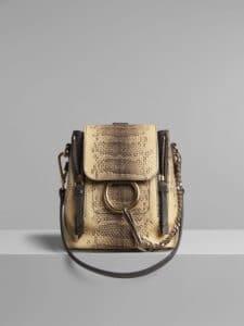 Chloe Cloudy Yellow Mini Faye Backpack Bag