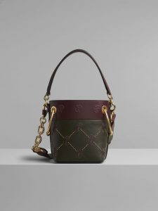 Chloe Deep Forest Embroidered Mini Roy Bucket Bag