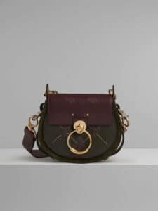 Chloe Deep Forest Embroidered Small Tess Bag