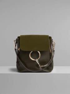 Chloe Deep Forest Small Faye Backpack Bag