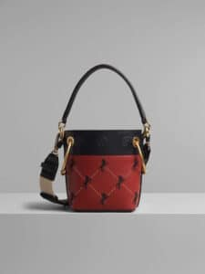 Chloe Earthy Red Embroidered Mini Roy Bucket Bag