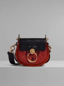 Chloe Earthy Red Embroidered Small Tess Bag