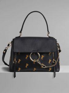 Chloe Full Blue Horse Embroidered Medium Faye Day Bag