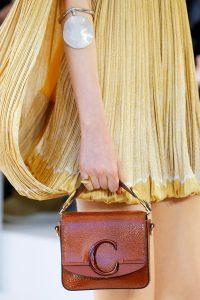Chloe Sepia Brown Patent Mini Flap Bag - Spring 2019