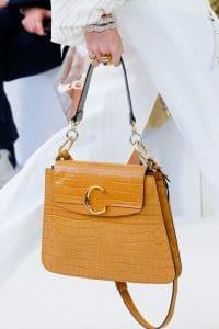 Chloe Tan Crocodile Large Flap Bag - Spring 2019