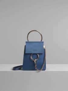Chloe Vinyl Blue Faye Small Bracelet Bag