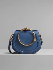 Chloe Vinyl Blue Small Nile Bracelet Bag