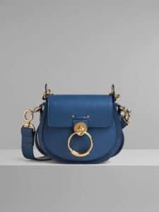 Chloe Vinyl Blue Small Tess Bag