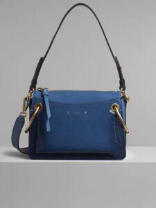 Chloe Vinyl Blue Spazzolato Sfumato Small Roy Bag