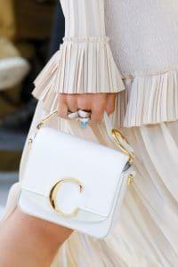 Chloe White Mini Flap Bag - Spring 2019